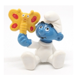 The Smurfs Schleich® Figure - Baby smurf with a butterfly (20218)