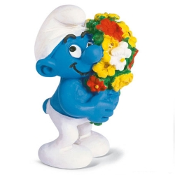 The Smurfs Schleich® Figure - Smurf with a bouquet of flowers (20469)