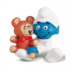 Figurine Schleich® Les Schtroumpfs - Bébé schtroumpf avec son nounours (20205)