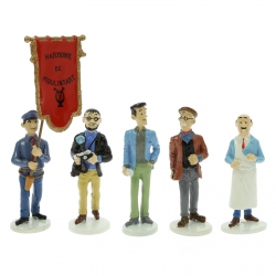Figurines set Tintin Moulinsart Serie 8 collection Carte de voeux 1972 (2018)
