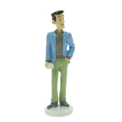 Tintin figurine the journalist J.L. de la Batellerie Carte de voeux 1972 (46515)