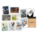 Portfolio with 10 Tinker Bell illustrations, signed by Loisel (18x24cm)