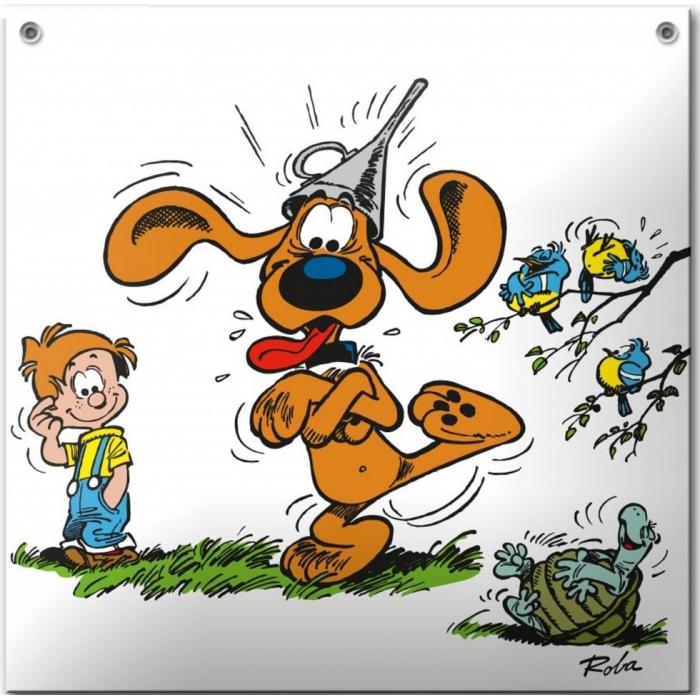 Placa esmaltada de cómics Coustoon Bill y Bolita Maboul COU09 (2013)