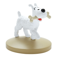 Collectible figurine Tintin Snowy with his bone Moulinsart 42222 (2018)