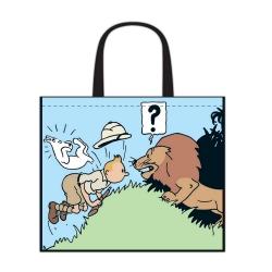 Sac semi-imperméable Tintin au Congo 45x38x20cm (04246)