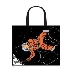 Sac semi-imperméable Tintin On a marché sur la Lune 45x38x20cm (04245)