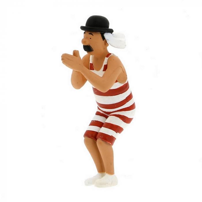 Figura de colección Tintín Milú tumbado 4,5cm Moulinsart 42431 (2011)