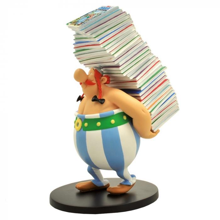 Figurine de collection Plastoy: Obélix tenant les albums 00124 (2015)