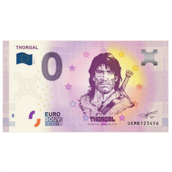 Bank note 0 Euro Souvenir Thorgal (2019)