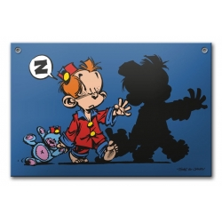 Comics enamel sign Coustoon Young Spirou somnambulist COUS20 (2014)