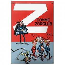 Plaque émaillée BD Coustoon Spirou et Fantasio Z comme Zorglub COUS11 (2013)