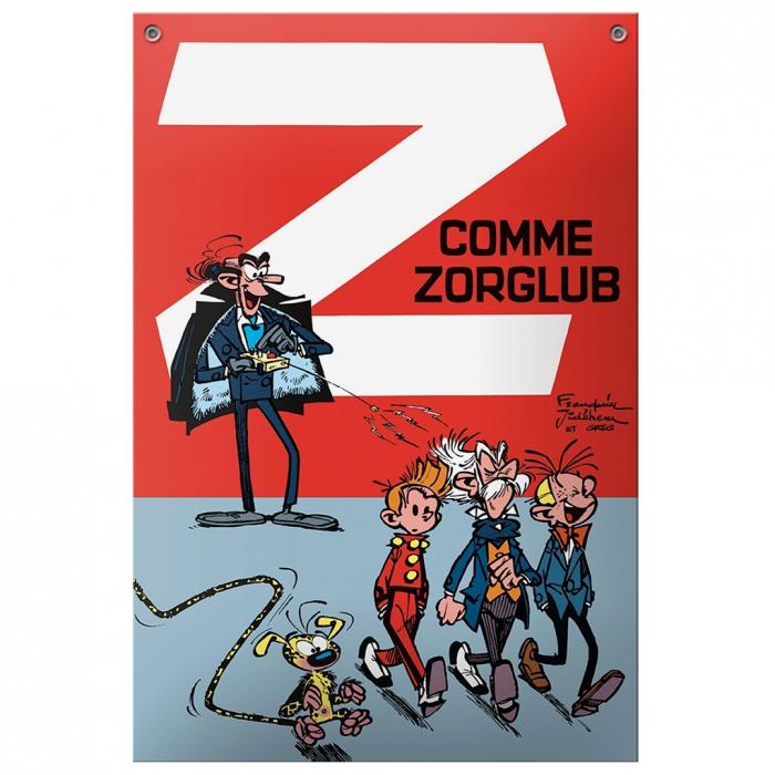 Comics enamel sign Coustoon Spirou and Fantasio Z comme Zorglub COUS11 (2012)