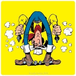Sous-verre Lucky Luke 10x10cm (Jolly Jumper)