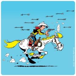 Posavaso Lucky Luke 10x10cm (atacado con flechas)