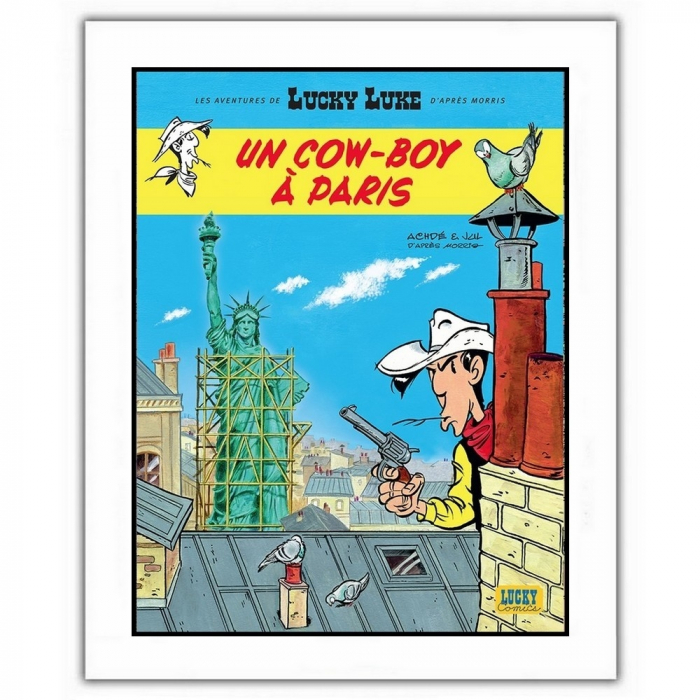 Póster cartel offset Lucky Luke, Un cowboy à Paris (28x35,5cm)