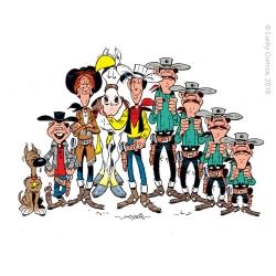 Sous-verre Lucky Luke 10x10cm (Les personnages)