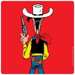 Posavaso Lucky Luke 10x10cm (listo para disparar)