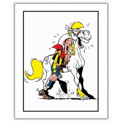 Póster cartel offset Lucky Luke, Lucky Luke & Jolly Jumper (28x35,5cm)