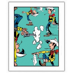 Poster offset Lucky Luke, Shooting positions (28x35,5cm)
