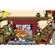 Collectible metal sign Blake and Mortimer, in front of the fireplace (20x30cm)