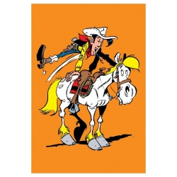 Postal de Lucky Luke: Galope con Jolly Jumper (10x15cm)