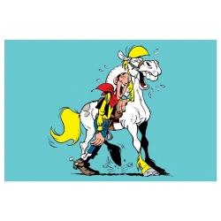 Postcard Lucky Luke: Lucky Luke & Jolly Jumper (15x10cm)
