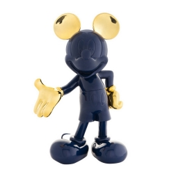 Figurine de collection Leblon-Delienne Disney Mickey Mouse Welcome (Bleu-Doré)