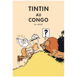 Póster Moulinsart álbum de Tintín: Tintín en el Congo 22011 (50x70cm)