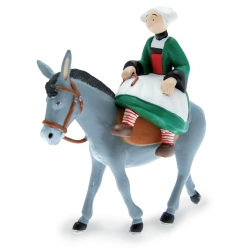 Collectible Figurine Plastoy: Bécassine riding a mule 61016 (2019)