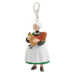 Keychain figure Plastoy Bécassine with her cock 61077 (2014)