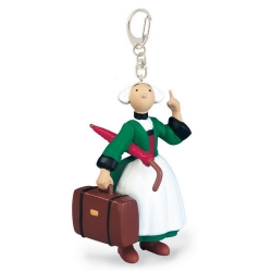 Keychain figure Plastoy Bécassine  with suitcase and umbrella 61066 (2019)
