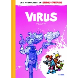 Deluxe album Black & White Spirou and Fantasio, Tome & Janry: Virus (2019)
