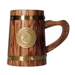 Wood mug SD Toys Asterix (Asterix metallic shield)