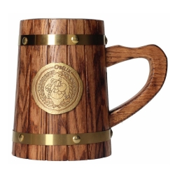 Tasse mug en bois SD Toys Astérix (Bouclier métallique d'Obélix)