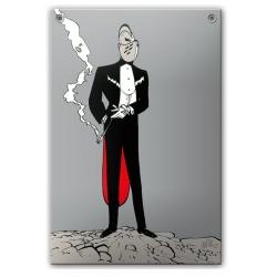 Placa esmaltada cómics Coustoon Tif y Tondu Monsieur Choc COUS30 (2014)