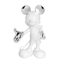 Estatua Leblon-Delienne Disney Mickey Mouse Life-Size (Blanco-Plata)