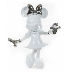 Statue by Leblon-Delienne Disney Minnie Mouse Life-Size (White-Silver)