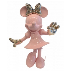 Statue by Leblon-Delienne Disney Minnie Mouse Life-Size (Pink-Gold)