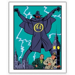 Poster offset Blake and Mortimer, The Yellow Mark (28x35,5cm)