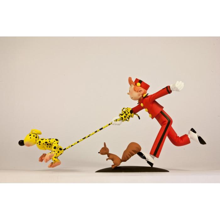 Figurine de collection Fariboles: Spirou, Le Marsupilami et Spip - SMS (2014)