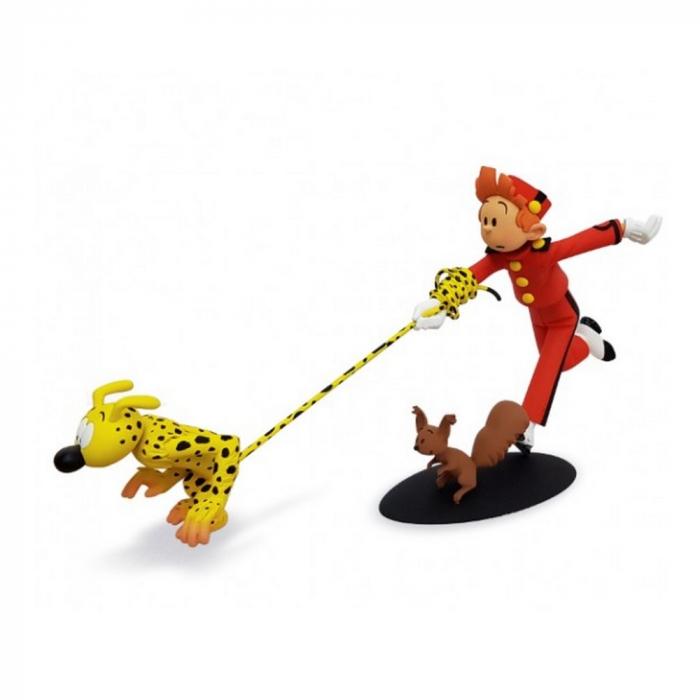 Figurita de colección Fariboles: Spirou, el Marsupilami y Spip - SMS (2014)