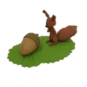 Collectible figurine Fariboles Spirou and Fantasio, Spip the squirrel BEB (2016)