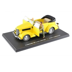 Blake and Mortimer Miniature Car Eligor Yellow convertible Ford V8 (1/43)