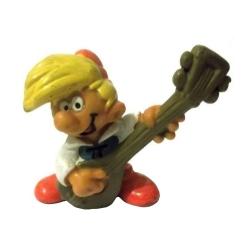 Figura Schleich® Los Pitufos - Pirluit tocando el laúd (20499)