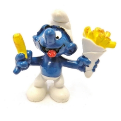 The Smurfs Schleich® Figure - Smurf with french fries (20131)