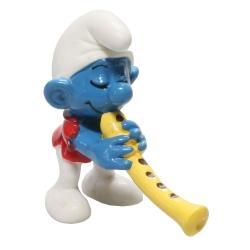 Figurine Schleich® Les Schtroumpfs - Le Schtroumpf avec sa flûte (20048)