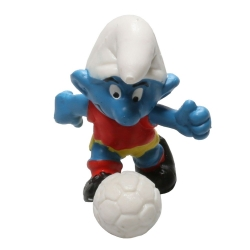 The Smurfs Schleich® Figure - The Smurf Vintage Footballer (20035)