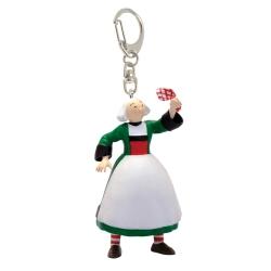 Llavero figura de Plastoy Bécassine llevando un pañuelo 61079 (2019)