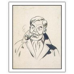 Poster affiche offset Blake et Mortimer, Philip Mortimer (28x35,5cm)