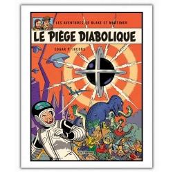 Poster affiche offset Blake et Mortimer, Le Piège diabolique (28x35,5cm)